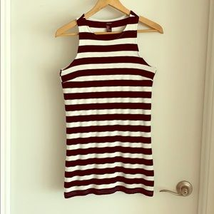 Striped mini dress. Fits size 0 petite.